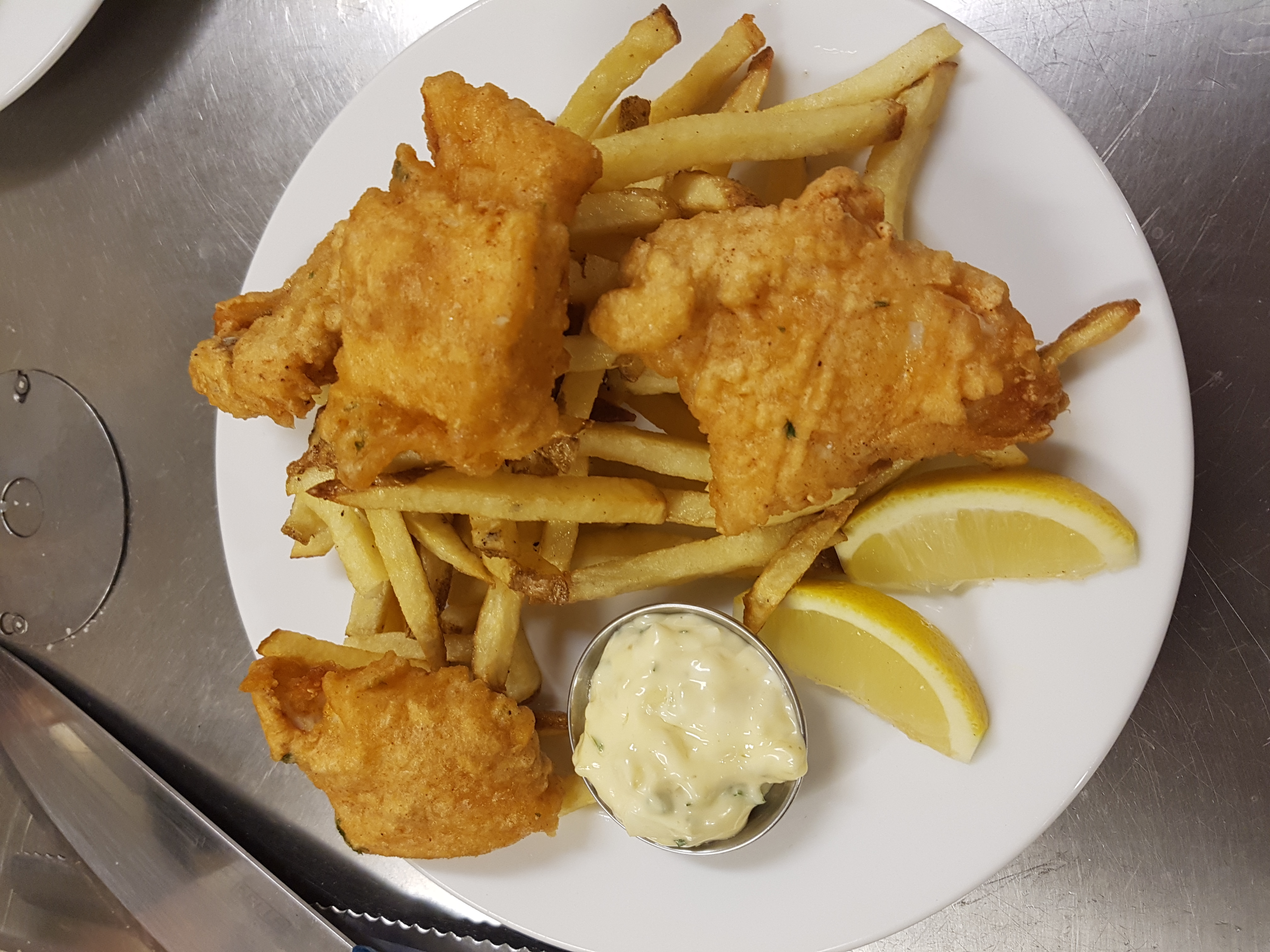 Fish and chips liberty chefs for Wave fish and chips